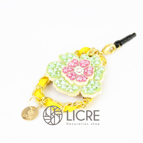 スワロフスキーデコレーション Plug-accessories-Flower-garden-04R